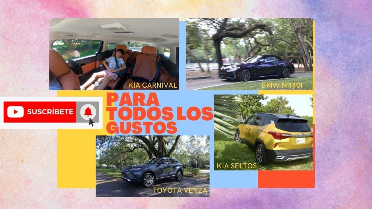 A bordo de un Kia Seltos conocemos el BMW M440I convertible, al Kia Carnival y la Toyota Venza
